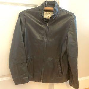 Eddie Bauer Black Lambskin Leather Jacket Coat 😎